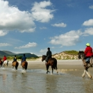 Horse riding on the Inishowen Peninsula on an Explore Adventure Tours Ireland