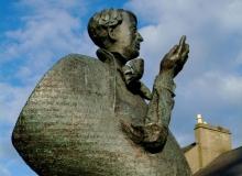 Backpacking Tour of Ireland to Yeats Statue Sligo