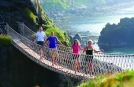 Small Group in Northern Ireland on Rope bridge
